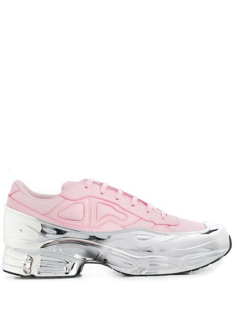 raf simons shoes farfetch adidas by raf simons adidas by raf simons s ozweego sneakers pink shoppingscanner
