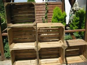 Wooden apple crates storage box fruit crates shabby chic ebay