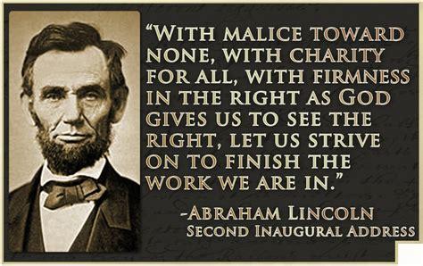 abraham lincoln inaugural address powerful quote from abraham lincoln s second inaugural