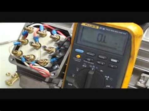 how to test a tv resistor how to check the winding resistance on a 230 460 volt 3 phase 60 hz 9 lead motor
