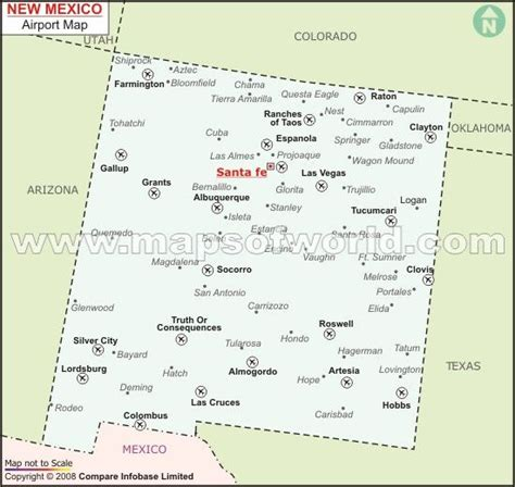 map mexico airports new mexico airports maps and geography
