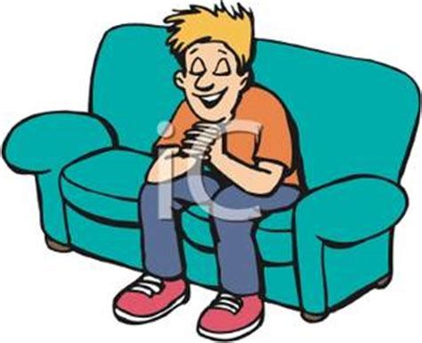 cartoon sitting on couch royalty free clipart image a boy sitting on a couch and