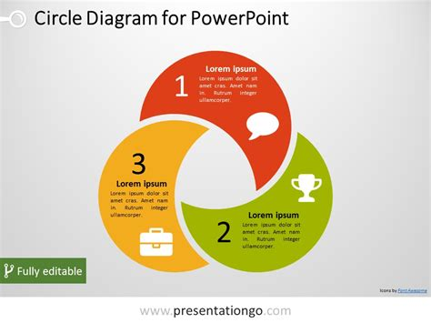 free 3 circle powerpoint diagram powerpoint diagrams