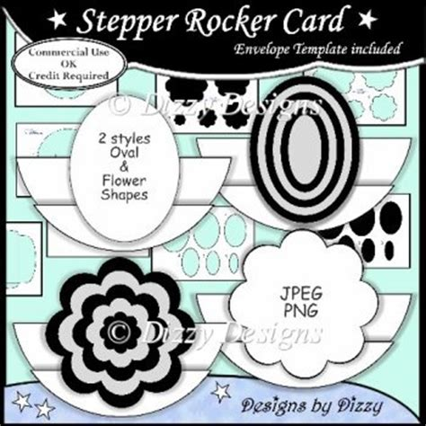 Rocking Card Template by Stepper Rocker Card Template 163 3 00 Instant Card
