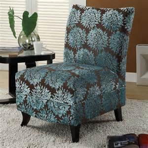 Gabrielle floral slipper chair brown turquoise at hayneedle