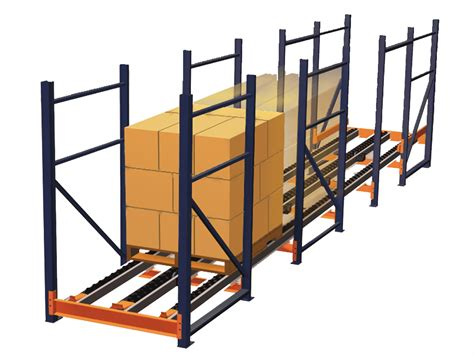 Pallet Rack Systems by Pallet Flow Racking System Gravity Flow Systems