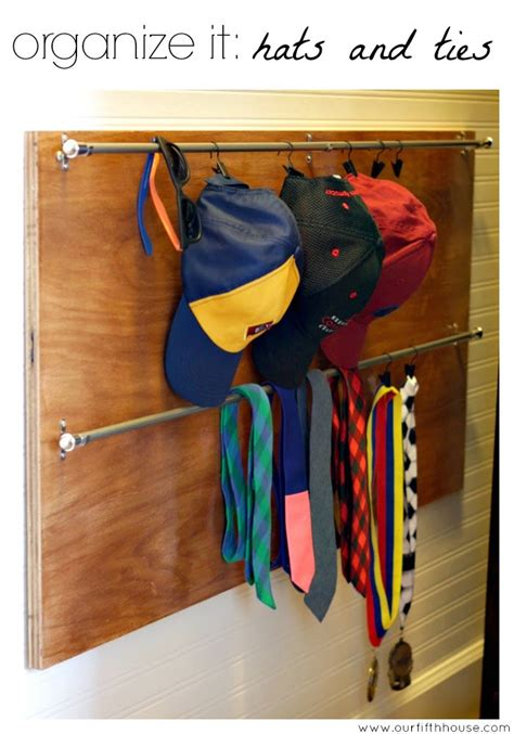 Closet Hat Organizer by Our Fifth House The Boy S Closet Baseball Hat And Tie