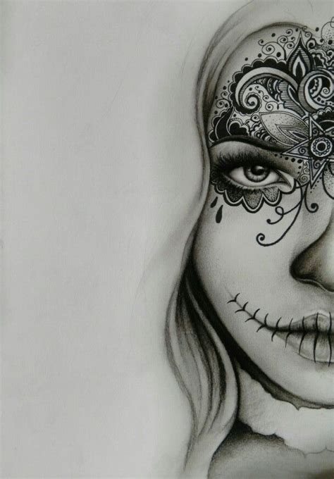 charcoal tattoo designs best 25 sugar skull drawings ideas on sugar