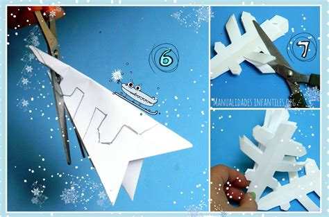 como hago cadenas de papel crepe como hacer copos nieve de papel