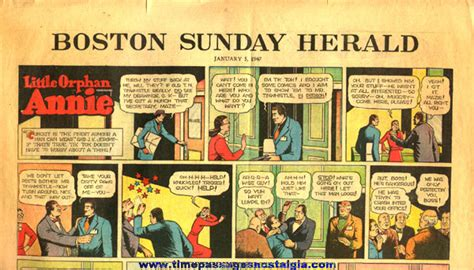 Newspaper Comic Section by January 5th 1947 Boston Sunday Herald Newspaper Color