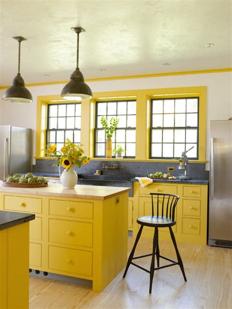 colorful yellow kitchen color inspiration 10 colorful kitchens town country living