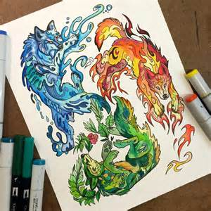 310 elemental wolves by lucky978 on deviantart
