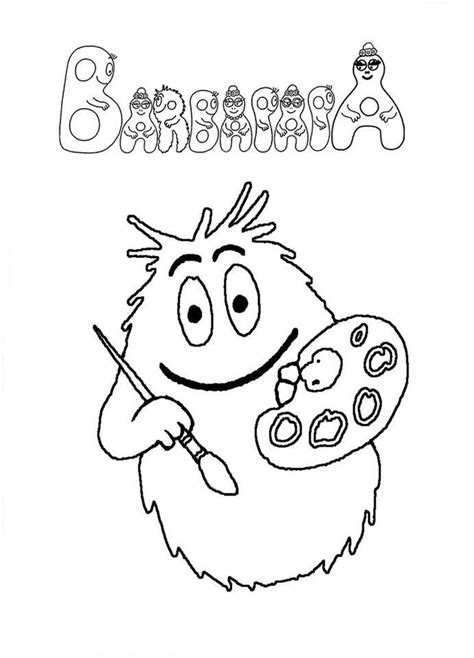 18 best barbapapa coloring pages images on pinterest