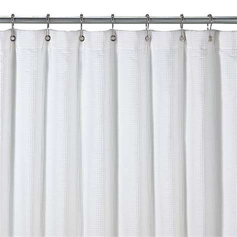 terry shower curtain hotel terry white shower curtain bed bath beyond