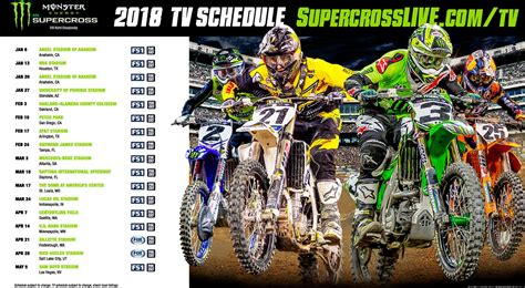 what channel is the motocross race on 2018 monster energy supercross series television