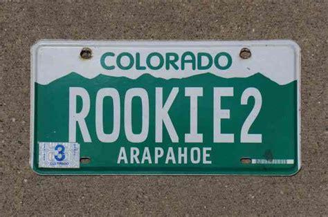 Colorado Vanity License Plates colorado vanity license plate rookie2
