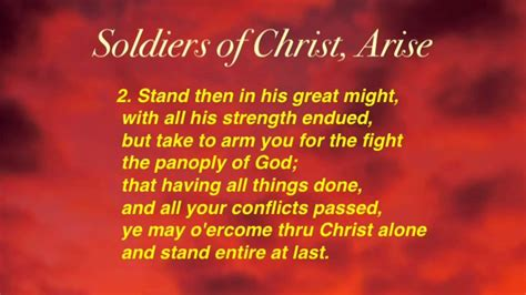 soldiers of christ soldiers of christ arise united methodist hymnal 513