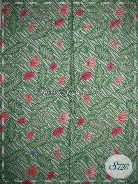 Bahan Kain Balotelli Motif Daun bahan batik motif daun warna hijau k1015p toko batik 2018