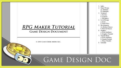 game design document adalah using a game design document benderwaffles teaches rpg