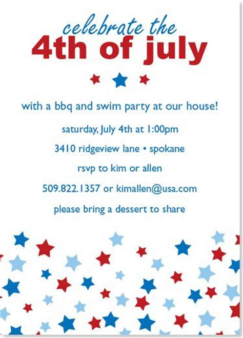 4th of july invitation templates 6 best images of 4th of july invitations templates