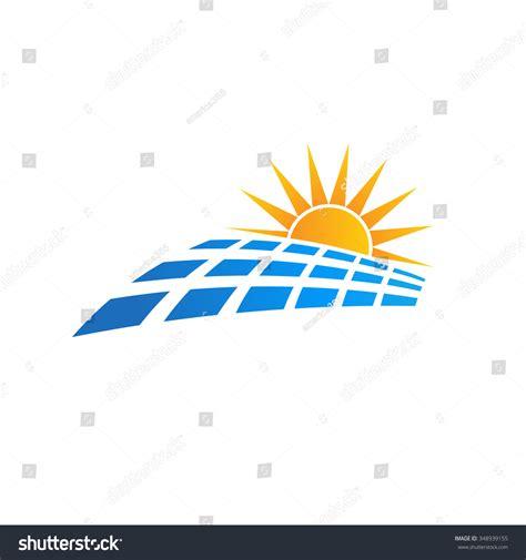 sun solar logo sun solar panel logo stock vector 348939155