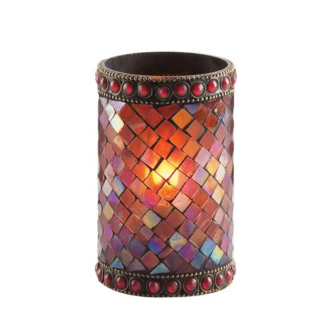 beaded candle holder sterno products 80110 4 3 4 quot beaded mosaic liquid