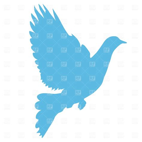 eps clipart pigeon silhouette vector image of plants and animals