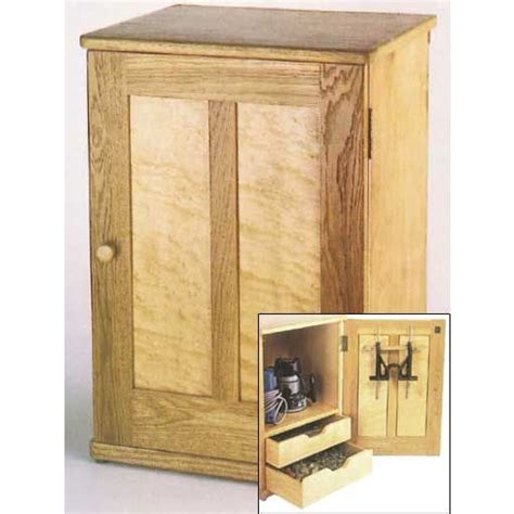 woodworkers journal router storage cabinet plan rockler