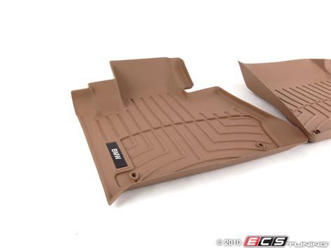 Raised Floor Mats by Genuine Bmw 82110419041 Front All Weather Rubber Floor Mat Set Beige
