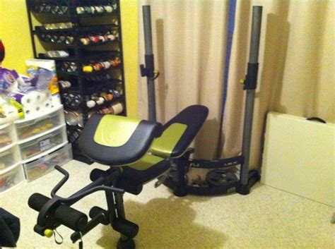 space saving weight bench proform fusion espotted