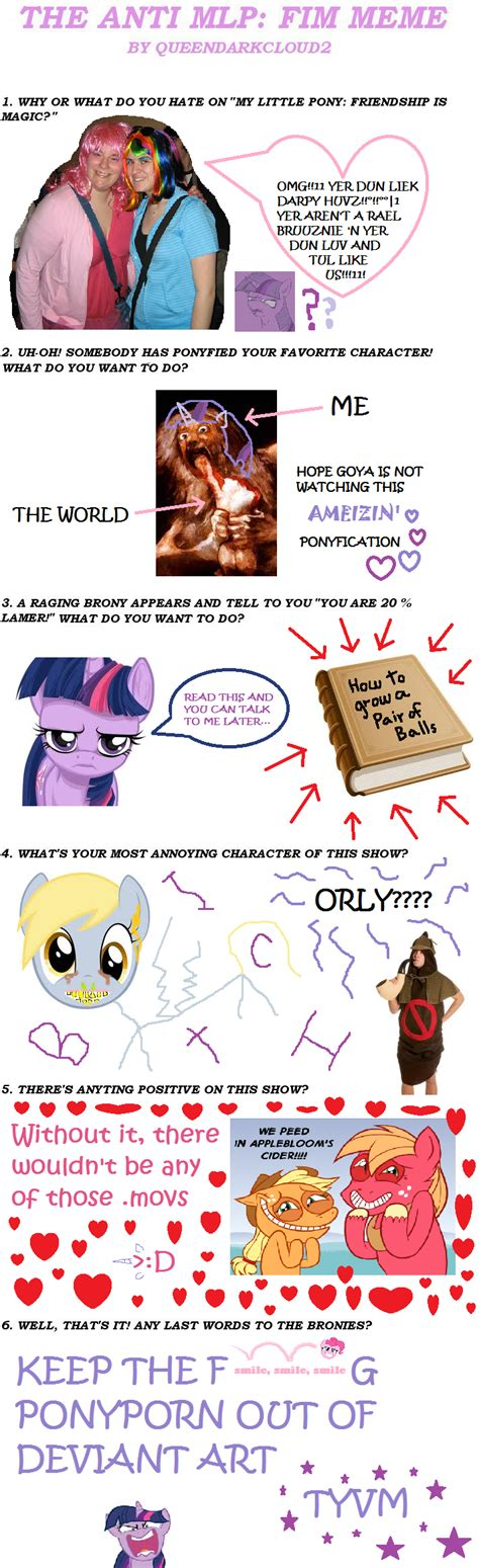 Mlp Fim Meme - anti mlp fim meme by tuailait sperkul on deviantart