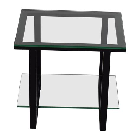 crate and barrel side table 66 off crate and barrel crate barrelglass and metal