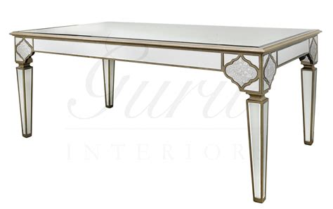 Mirror Dining Tables Moroccan Mirrored Dining Table