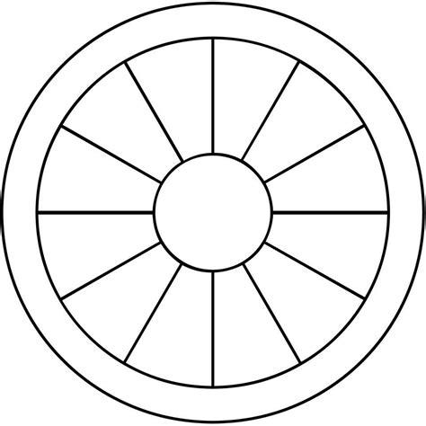 blank wheel of template blank zodiac wheel white gold