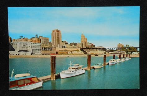 ebay boats for sale minnesota 1950s skyline from across the mississippi river boats