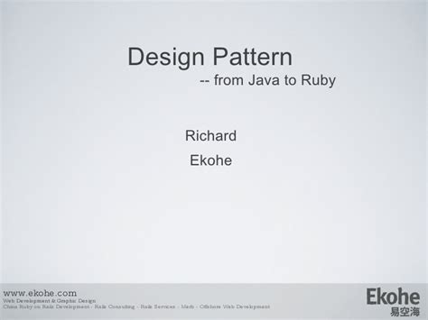 expert design pattern java design pattern from java to ruby