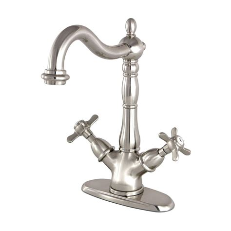 single hole two handle bathroom faucet kingston brass victorian cross single hole 2 handle high