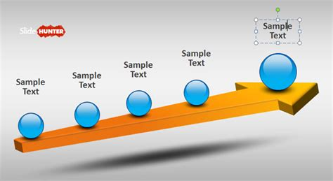free 3d powerpoint template free 3d timeline template for powerpoint with arrow free