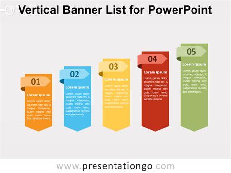 banner design list vertical banner list for powerpoint presentationgo com