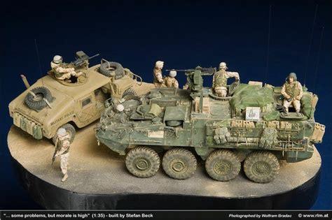 Miniatur Mobil Tank Piranha Operation Iraqi Freedom M 1127 Icv Stryker M1025 Humvee 1
