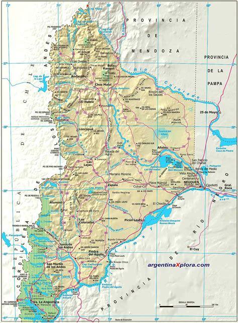 imagenes satelitales de zapala neuquen mapa de rutas y localidades de la provincia del neuqu 233 n