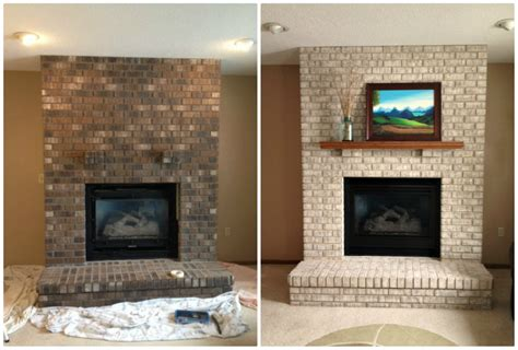 paint brick fireplace before after whitewash exterior brick before and after photos