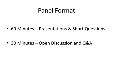 Mba Panel Questions by Burton Research Panel Intl Technology