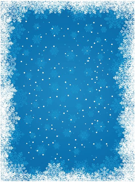 Blue Snowflake Background Vector Free Vector 4vector Free Snowflake Background