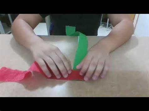 como hacer cadenas de corazones con papel crepe como hacer cadenas de crepe doovi