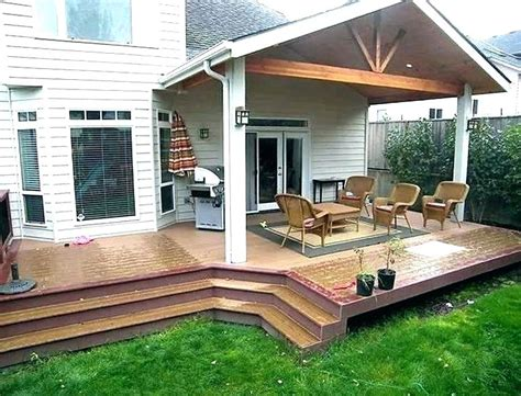 covered porch designs back deck ideas pictures partially