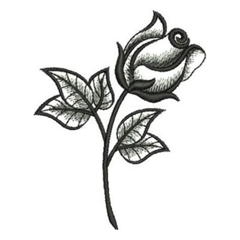 elegant black rose embroidery designs machine embroidery