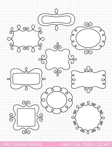how to create doodle frames doodle frame clip digital borders clipart borders