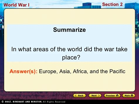 chapter 16 section 2 war in europe ch26 sec2