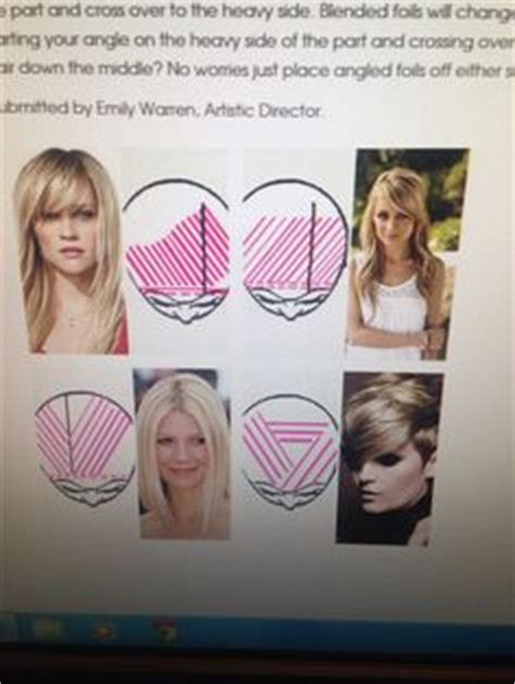 foil highlight placement guide paul mitchell the color professional hair color swatch